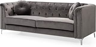 Glory Furniture Pompano Sofa, Dark Gray. Living Room Furniture, 31