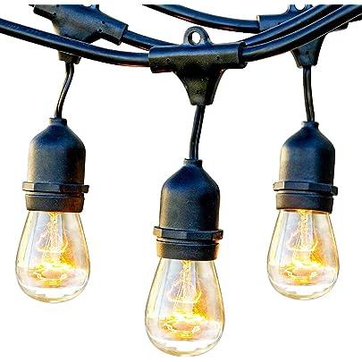 Outdoor String Lights UL Commercial Grade Weatherproof Strand for Patio Garden Wedding Backyard Party Lights