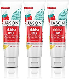 Jason Kids Only! Strawberry Toothpaste 4.2 oz, New Packaging (3 Pack)