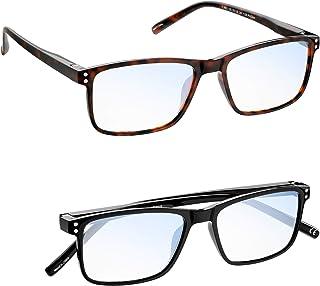 Gafas luz azul Hombre Mujer MADEYES Gafas de Lectura Buena Vision Anti fatiga visual TR90 Ligero Protección 410UV (1 Negro...