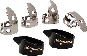National NP1-7B Thumb & Finger Pick Pack - Stainless Steel/Black - Medium