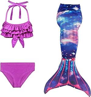 Chica Sirena Cola Bikini Traje de Tres Piezas
