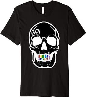 Treyway Skull six nine number rainbow grillz shirt cool gift