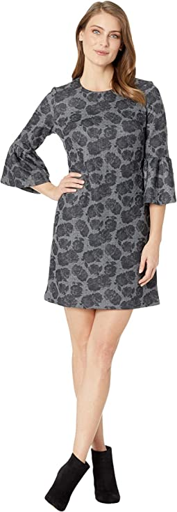 Floral Print Bell Sleeve Ponte Dress CD8PF86L