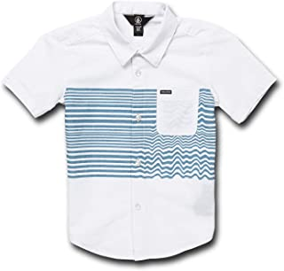 Volcom Little Boy's Mag Vibes Modern Fit Button Up Shirt