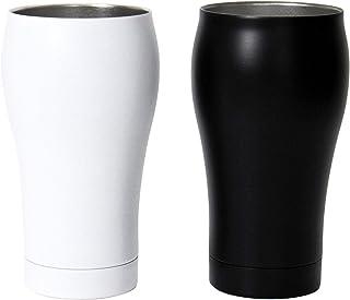 ドルチェデュオ サーモタンブラー ペア コップ 保温 保冷 ステンレス ビアカップ 真空断熱 350ml 白×黒 父の日 誕生日 ギフトセット DS-5040
