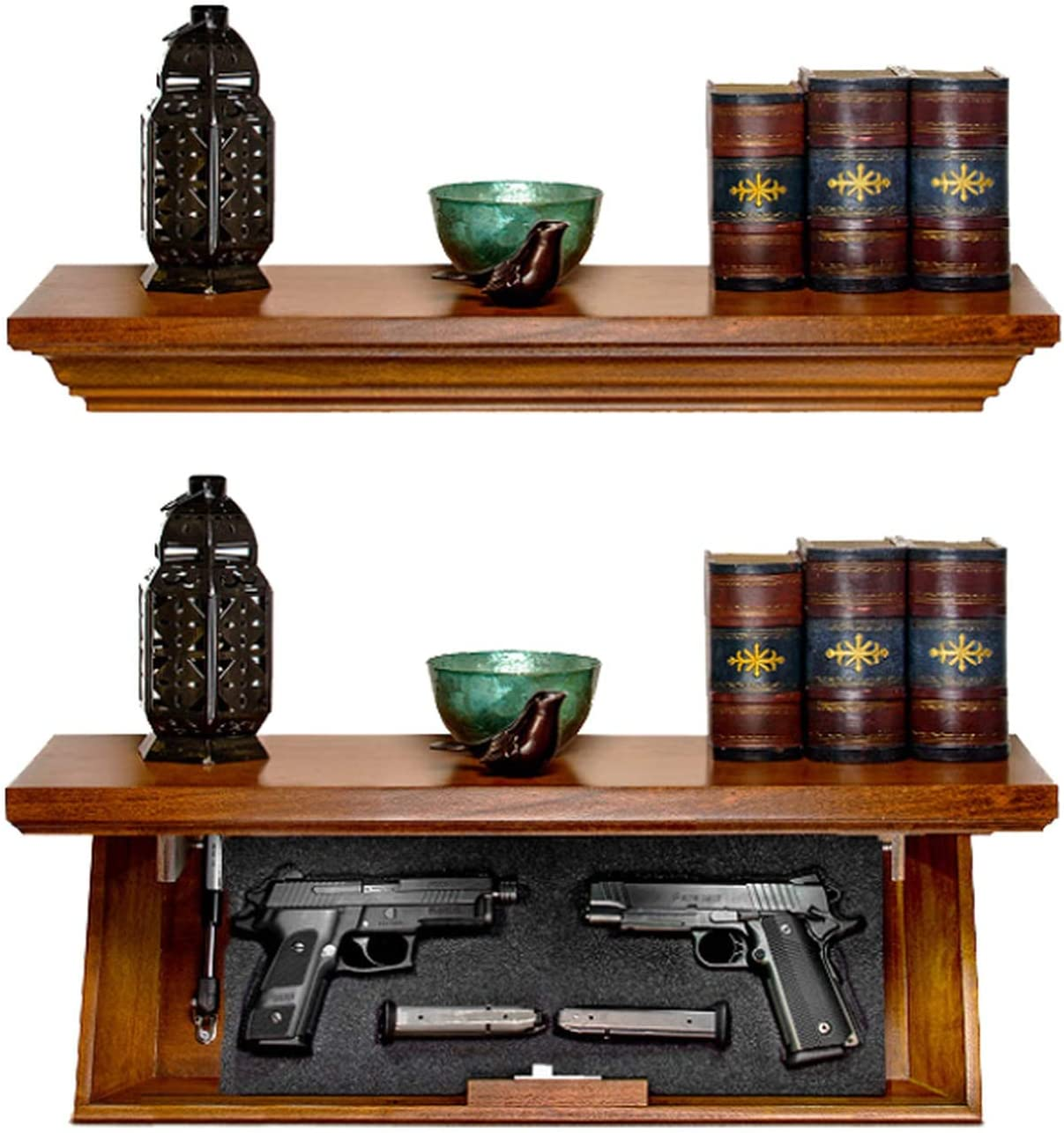 """Tactical Traps Patriot 35S Compact Gun Shelf with Trap Door 