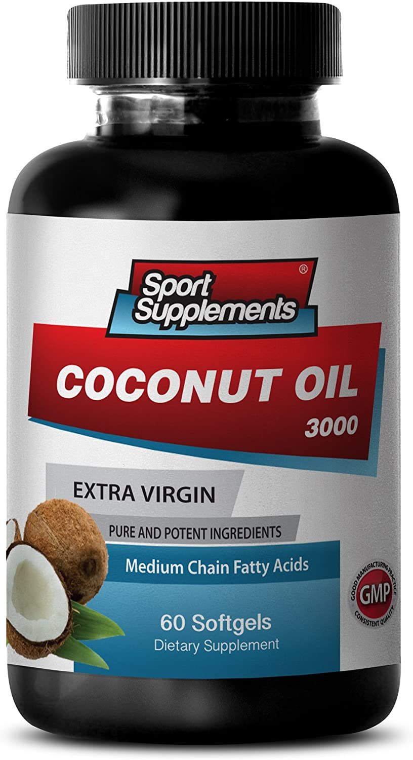 Metabolism Booster for Weight Loss - Coconut Oil 3000MG Extra Vi