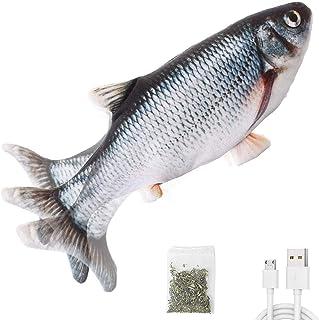 "Potaroma Electric Flopping Fish 10.5"", Moving Cat Kicker Fish Toy, Realistic Floppy Fish, Wiggle Fish Catnip Toys, Motion ..."