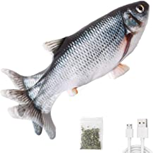 "Potaroma Electric Flopping Fish 10.5"", Moving Cat Kicker Fish Toy, Realistic Flopping Fish, Wiggle Fish Catnip Toys, Motio..."