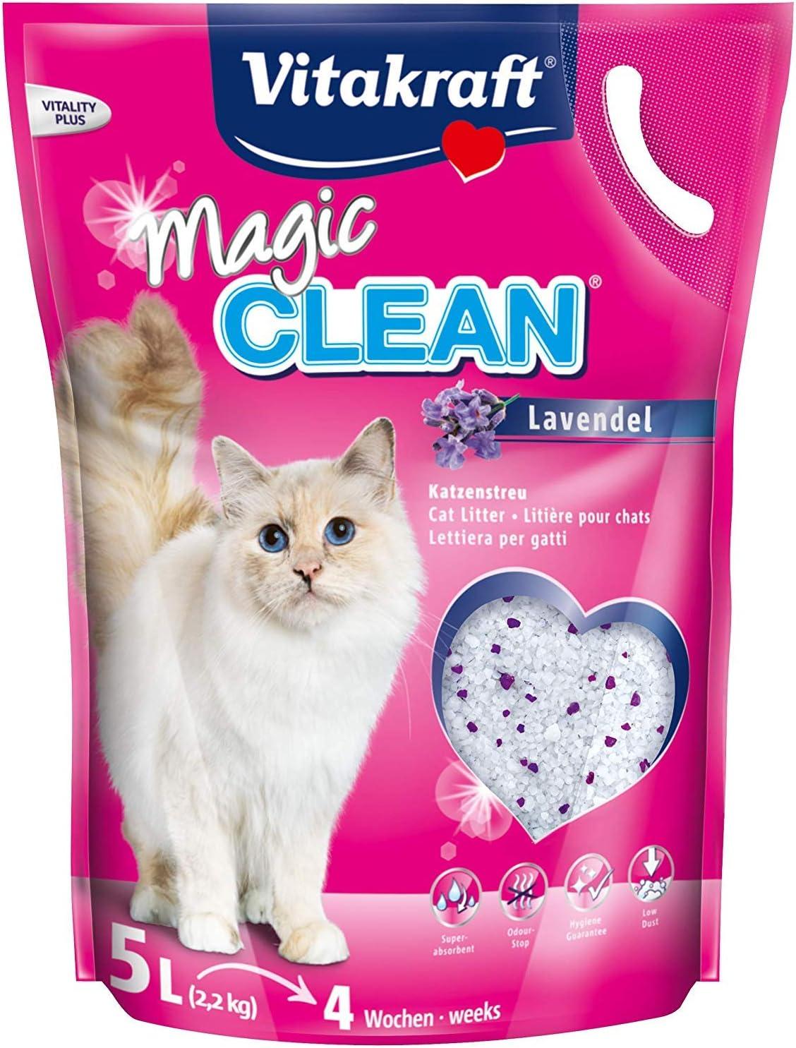 Magic Clean - Arena para Gatos, Lavanda, 5 l
