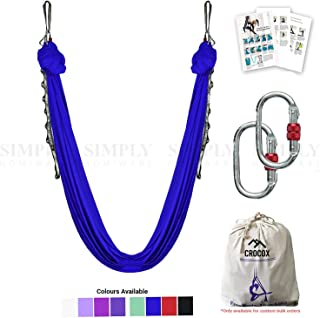 Crocox Aerial Yoga Swing Hammock Therapy Trapeze Inversion Sling Straps Ceiling
