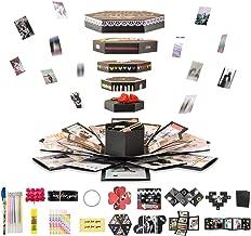 DIY サプライズボックス 手作りアルバム スクラップブック 爆発ボックス バレンタインデー 誕生日 結婚記念日 プレゼント インスタ映え 六角型 デザイン かわいい カード ハンドメイド 写真 ラブメモリー 簡単 デコレーション付き ENSYA