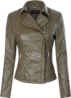 Instar Mode 女式人造革/绒拉链机车夹克外套