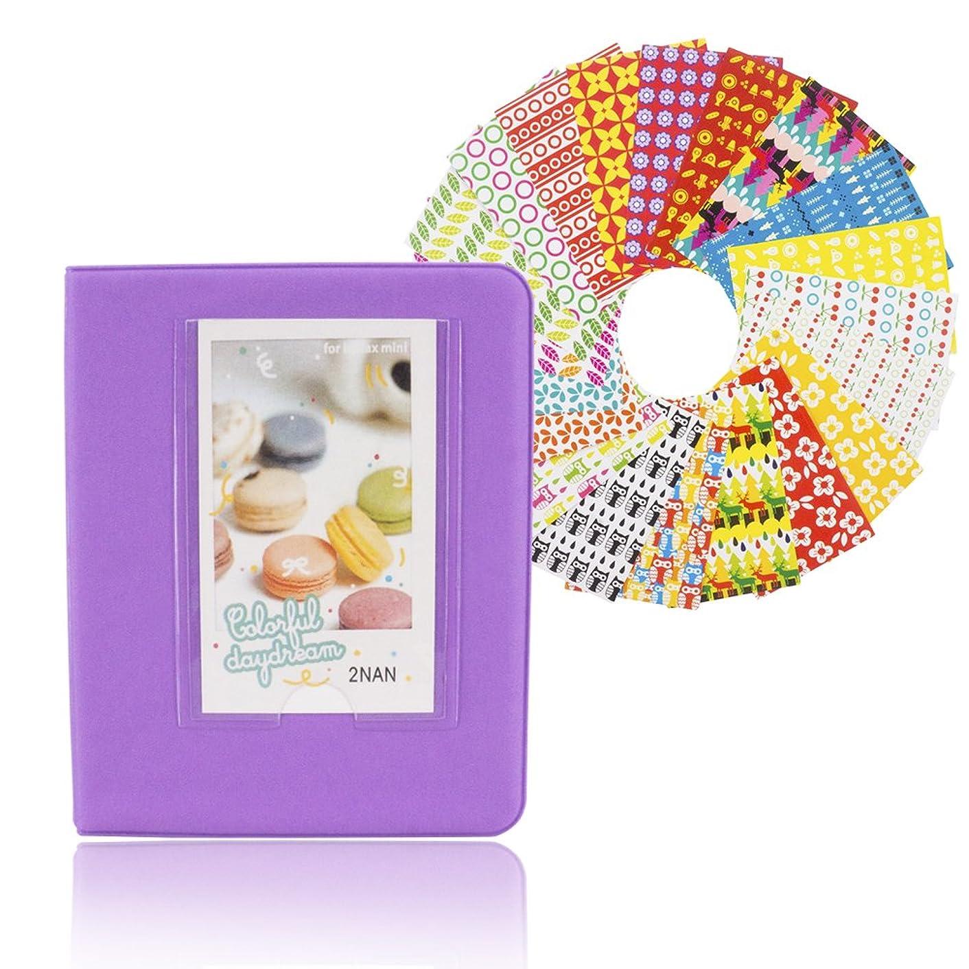 64 Pockets Intax Mini Photo Film Album 20 Picture Sticker Frame - Pass Lanry Polaroid Instax Mini 8 8+ 9 7s 25 50s 90 Photo Album Name Card Holder & Stickers