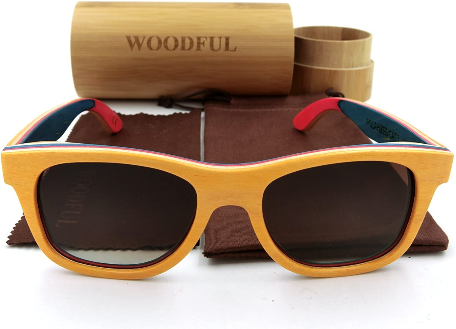 Women Men Wooden Bamboo Sunglasses