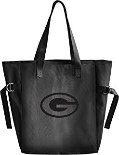 Littlearth Productions NFL Unisex-Adult NFL Black Mesh Reusable Fabric Tailgate Tote Bag with Black Vinyl Team Logo