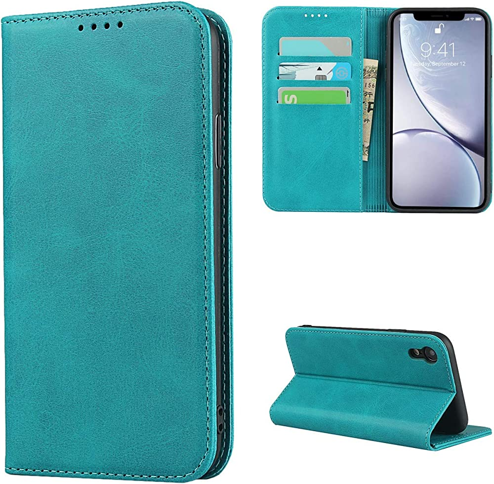 Copmob portafoglio porta carte di credito custodia per iphone xr in pelle Xmw ixr Sky Blue