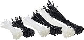 AmazonBasics Self-Locking Nylon Cable Ties - 6, 8 and 12 Inch - Black & White