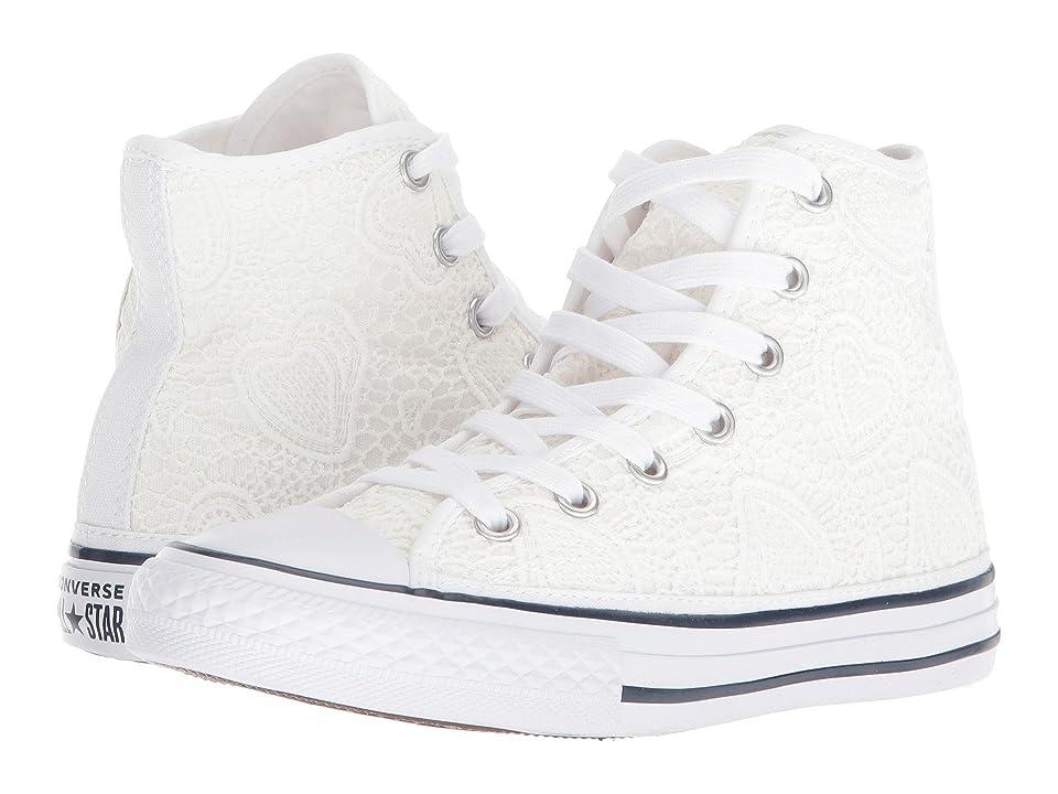 Converse Kids Chuck Taylor(r) All Star(r) Italian Hi (Little Kid/Big Kid) (White/Garnet/Insignia Blue) Girls Shoes
