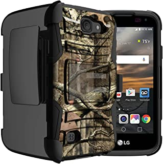 Untouchble Case for LG K3 Holster Case | LS450 Case [Heavy Duty Clip] Dual Layer Rugged Shell Hybrid Armor [Swivel Holster] - Real Hunter Camo