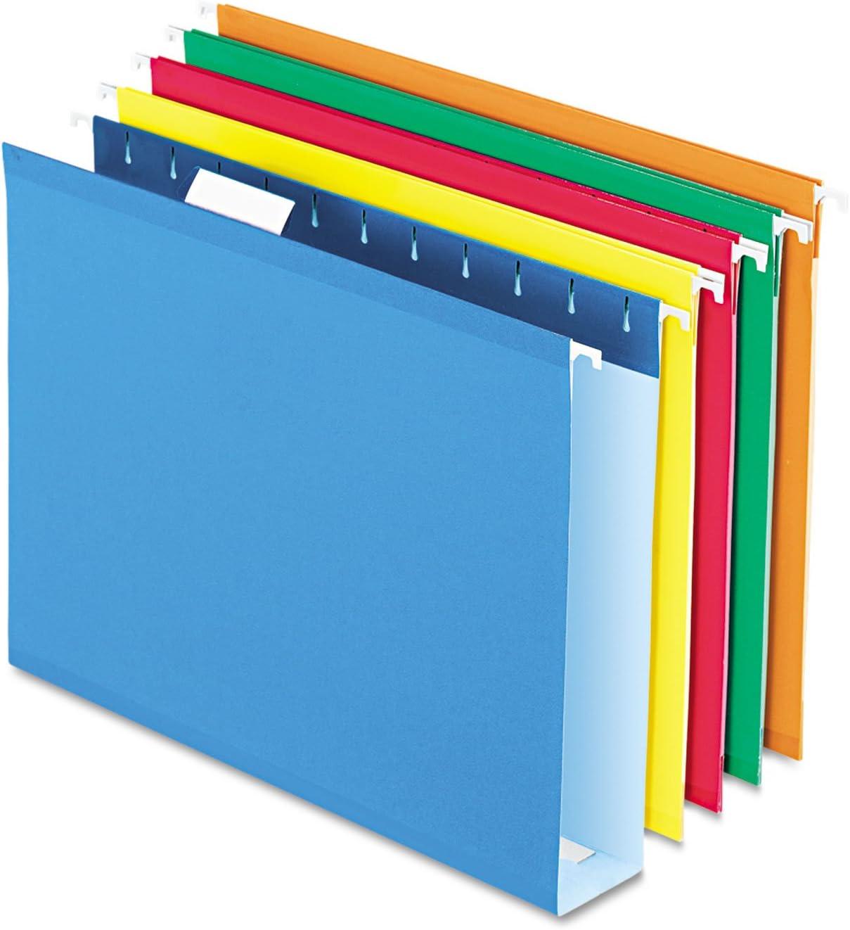 Pendaflex 4152X2ASST Department store Fixed price for sale Box Bottom Folders Letter 2-Inch Cap Size