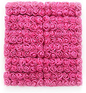 roses flower heads Rose red Artificial Rose Flowers DIY 144 PCS Head Rose Flowers Wedding Bride Bouquet PE Foam DIY Party Festival Home Decor Rose Flowers (Rose red)