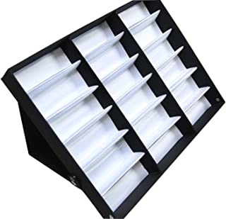 Sodynee 18 Pcs Eyewear Sunglasses Jewelry Watches Display Storage Case Stand
