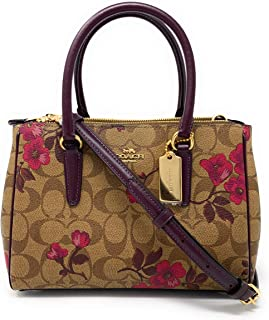 Coach Mini Surrey Carryall In Signature Canvas With Victorian Floral Print