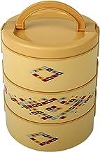 Cello Decker Plastic Lunch Box Set, 2.975 Litres, Set of 3, Beige