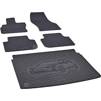 Gummi Kofferraumwanne Fußmatten Set für Audi Q3 ab 2015