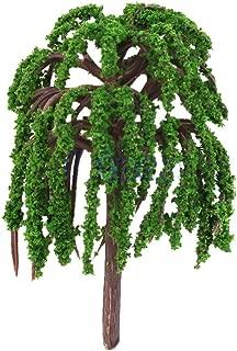 Techinal 1Pcs Artificial Mini Willow Tree Plants Miniature Fairy House Garden Dollhouse Landscaping Decor