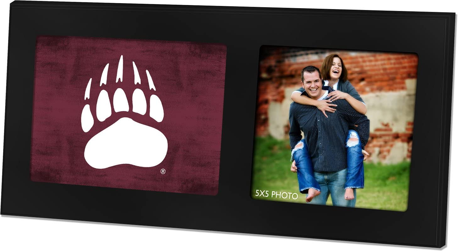 KH Sports Fan 16x8 Pittsburgh Panthers Colored Logo Black Single Collage Photo Frame Multi