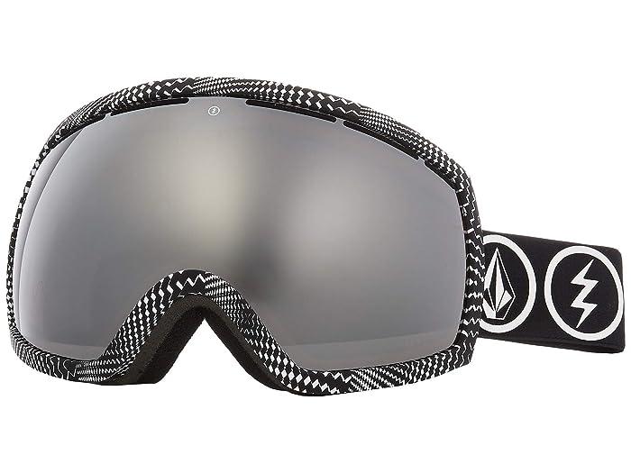Lab Brose/Silver Chrome) Snow Goggles