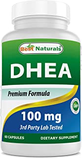 Best Naturals DHEA 100mg Supplement 60 Capsules - Supports Balanced Hormone Levels for Men & Women - Promotes Healthy Agin...