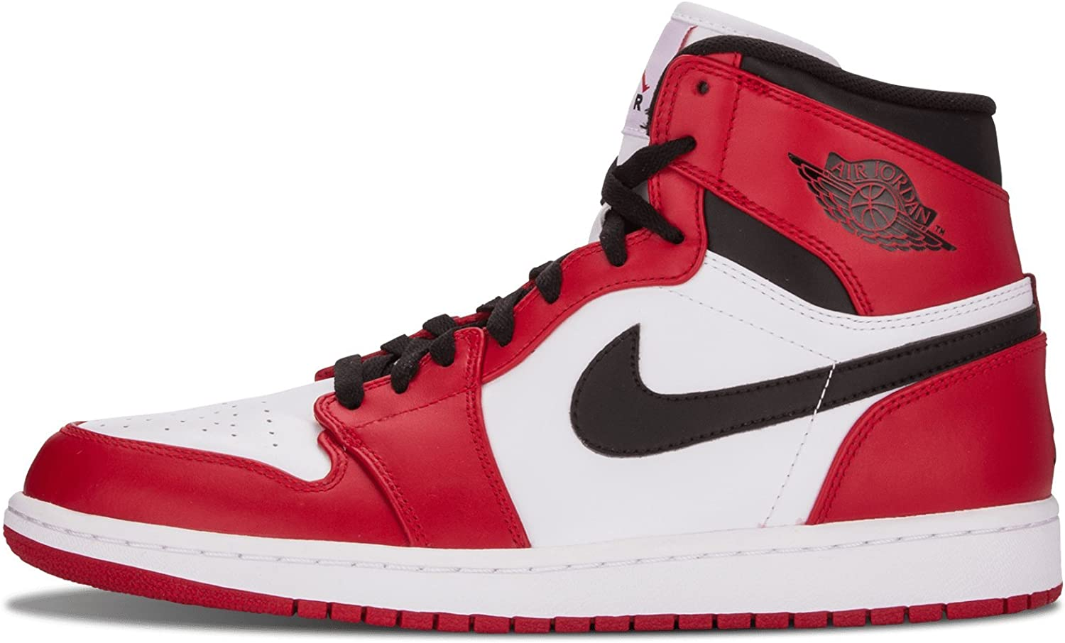 Mal funcionamiento Ninguna Cívico  Amazon.com | Nike Mens Air Jordan 1 Retro High Chicago Leather Basketball  Shoes | Basketball