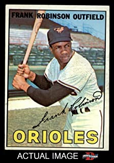 1967 Topps # 100 Frank Robinson Baltimore Orioles (Baseball Card) Dean`s Cards 5 - EX Orioles