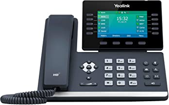 $173 » Yealink T54W IP Phone, 16 VoIP Accounts. 4.3-Inch Color Display. USB 2.0, 802.11ac Wi-Fi, Dual-Port Gigabit Ethernet, 802....