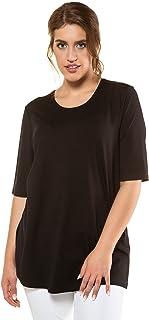 Ulla Popken Shirt relaxed dames shirt met lange mouwen