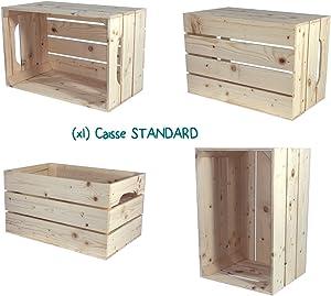 Simply a Box Table de Chevet 1S1H - Kit prêt à Assembler - caisses en Bois (x2) - Fabriquée Main en France …