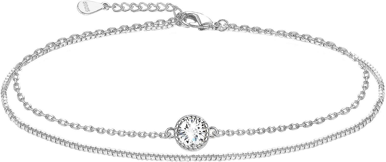 Sllaiss 925 Sterling favorite Silver Bracelet Di Zirconia Solitaire Cubic Topics on TV