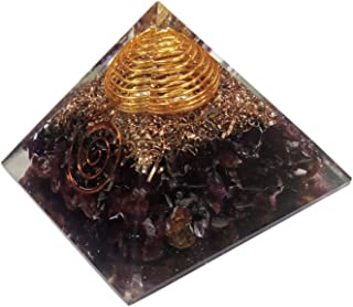 Orgone Pyramid Large Garnet Crystal Energy Generator EMF Protection Meditation Healing
