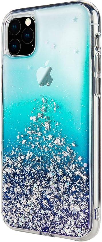 粘着性ステートメント六月【SwitchEasy】 iPhone 11 Pro Max ケース クリア キラキラ ラメ 入り ファッション 透明 ハード カバー ストラップホール 付き おしゃれ スマホケース [ Apple iPhone11 Pro Max アイフォン11プロマックス 対応 ] StarField クリスタル