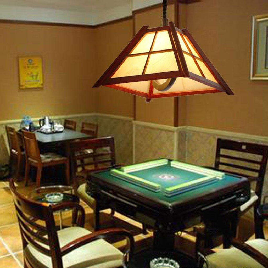 LYM Lámparas Colgantes Lámpara de araña China, Ascensor Mahjong Tea Room Restaurant Bar Chandelier Puede Empujar y jalar la lámpara (Color : A): Amazon.es: Hogar