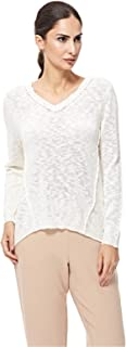 ONLY V-neck pullover top for women in Cloud Dancer, Large