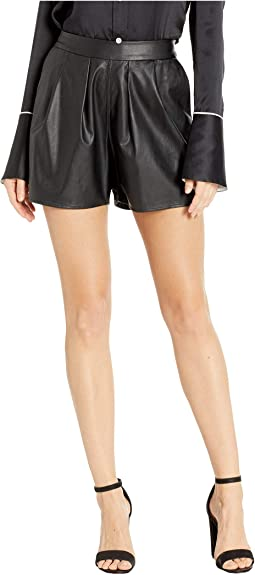 Two-Pocket Pleather Shorts