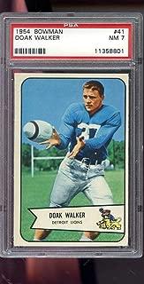 1954 Bowman #41 Doak Walker Detroit Lions NM PSA 7 Graded Football Card NFL