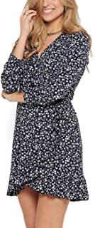 Only womens ONLCARLY L/S WRAP SHORT WVN Dress