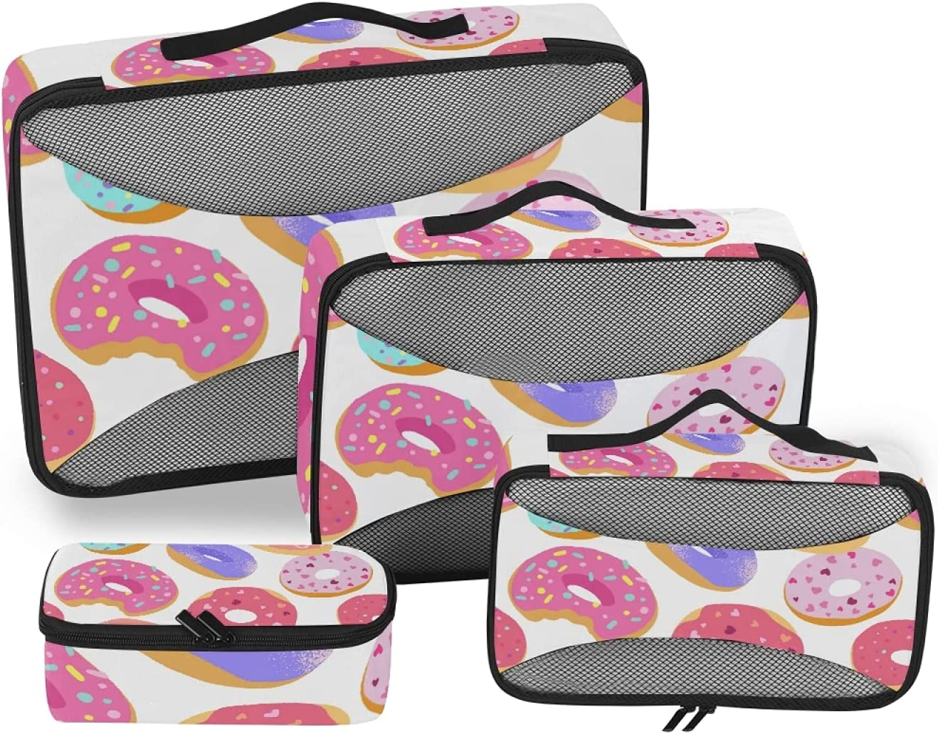 Donuts Packing Storage Bag 4-Pcs Time sale St Organizer Max 42% OFF Travel Accessories
