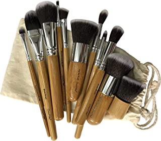 Dream Maker 11 Piece Makeup Brush Set Model DM-136(Bamboo)